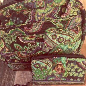 Vera Bradley Handbag and Wallet Set